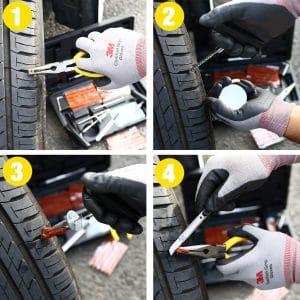 kit de réparation pneu